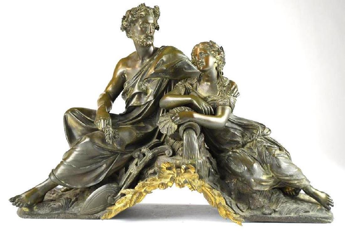 Antique French Bronze Statue
