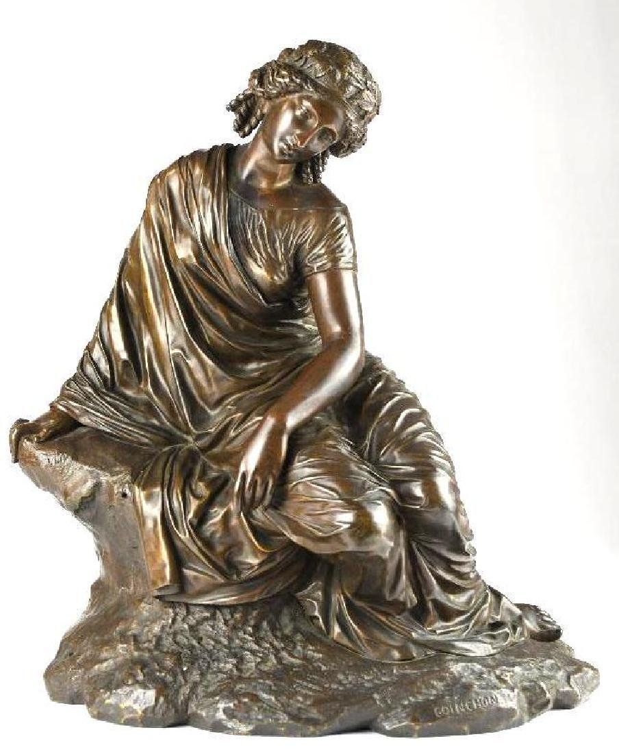 Antique Bronze Statue of a seated lady