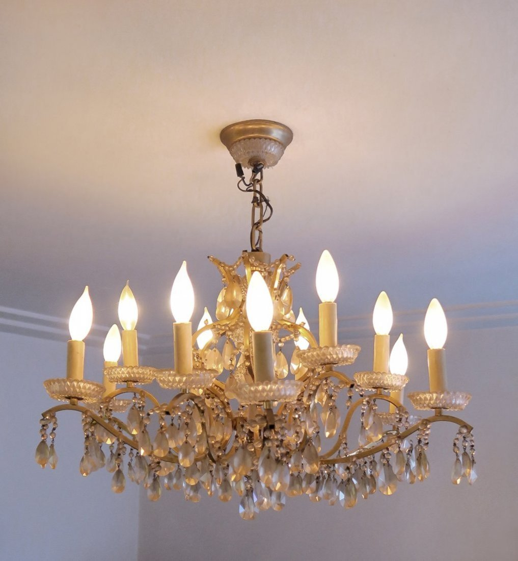 Stunning 19th C. French Baccarat Chandelier