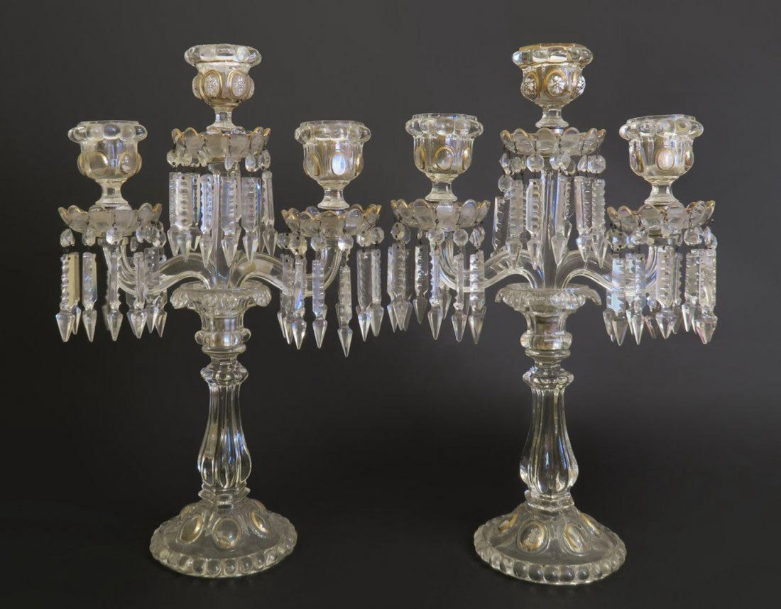 Pair Of Baccarat Candlesticks
