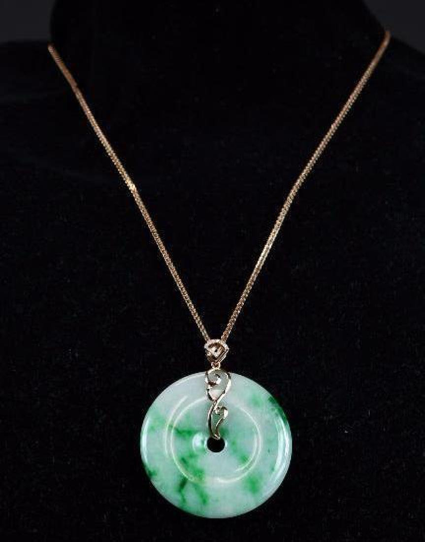 Apple Green GIA Certified Natural Grade A Pendant