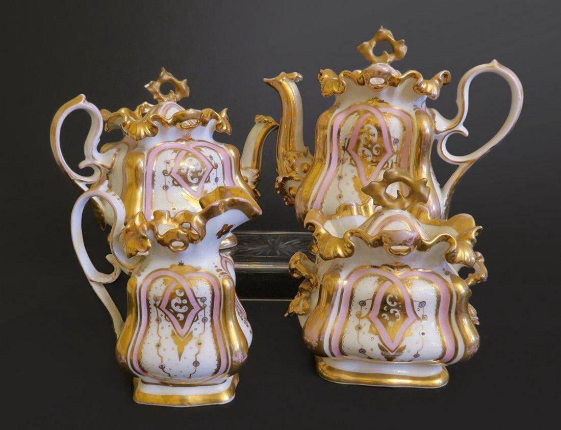 Beautiful Gold plated Porcelain Tea Set