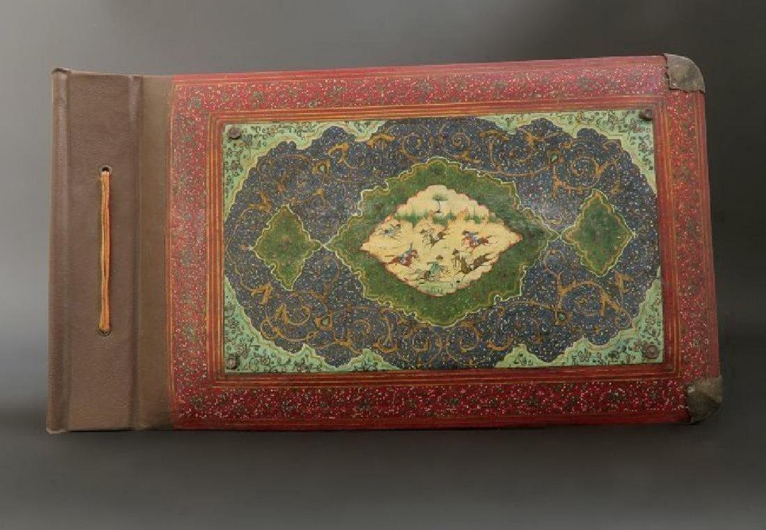 Beautiful Persian Lacquer Paper Mache Photo Album