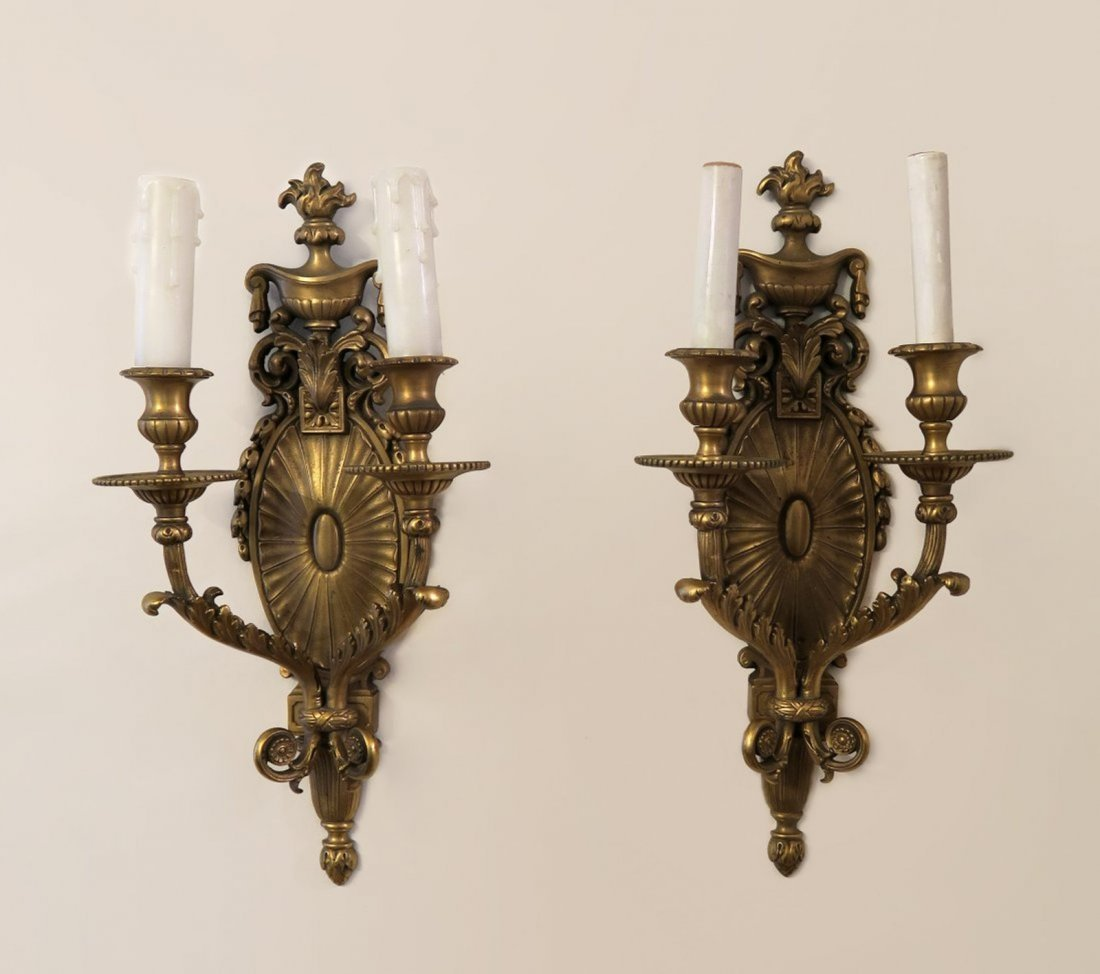 Pair Of French Bronze Scanse