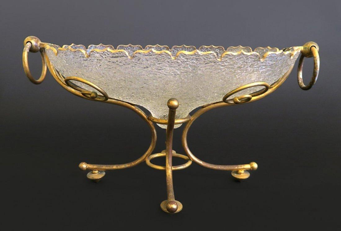 Gilt Crystal Mounted on Bronze Centerpiece