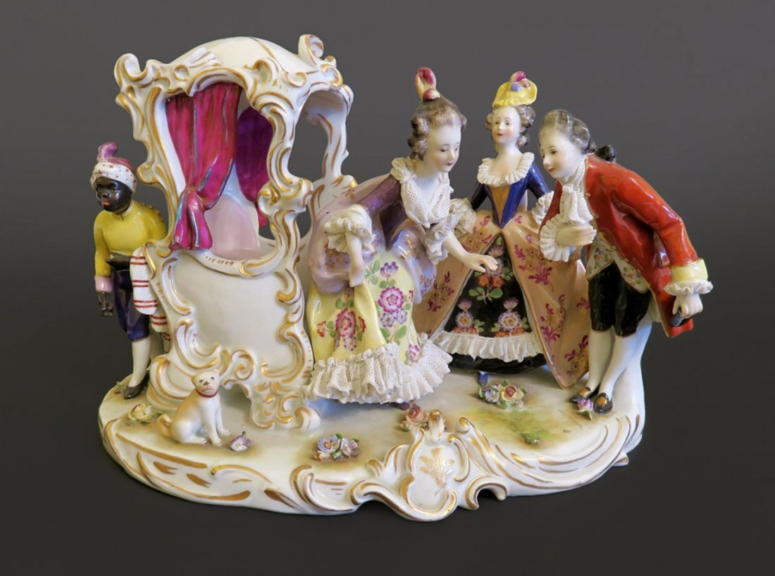 Magnificent German Porcelain Statue
