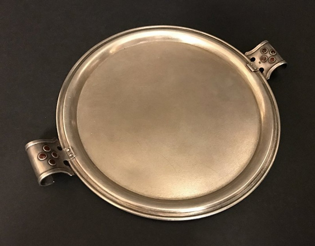 Miniature 875 Russian Silver Tray Faberge Style
