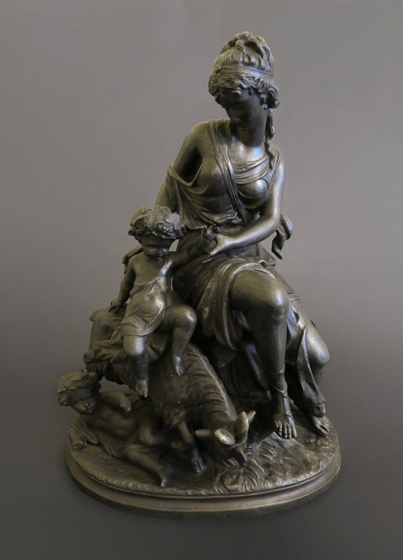 19th French Patinated Pot Metal Statue