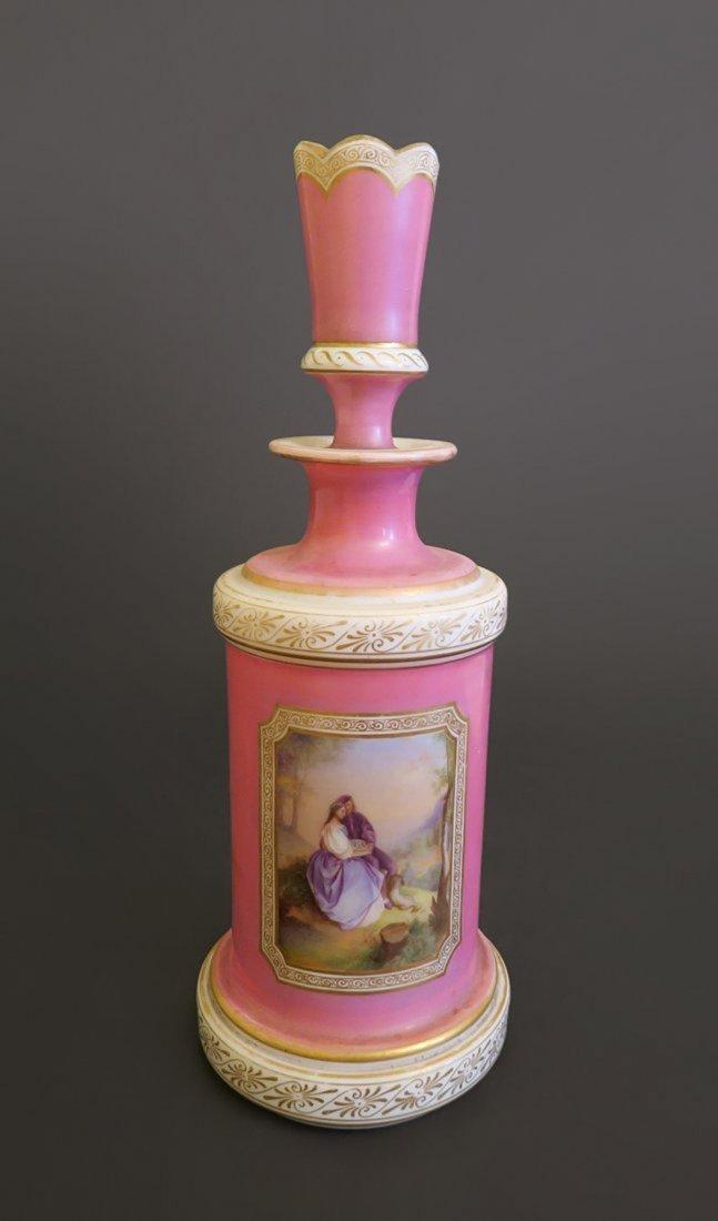 Stunning Pink Opaline Decanter