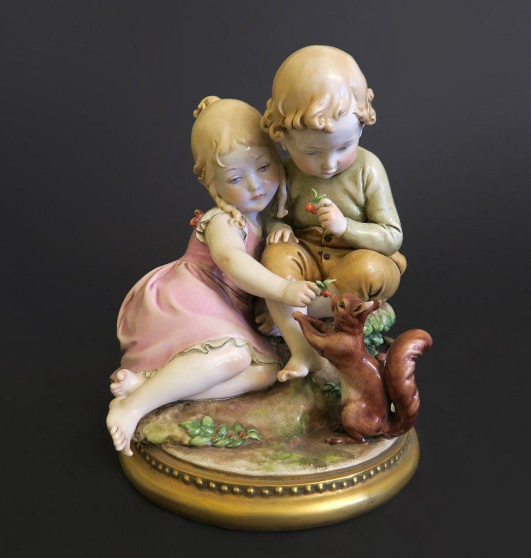 German Porcelain Figural Group Statue