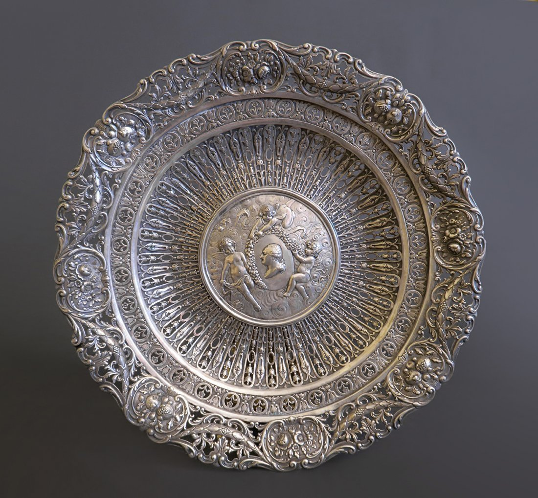 Magnificent German 800 Silver Open Work Centerpiece
