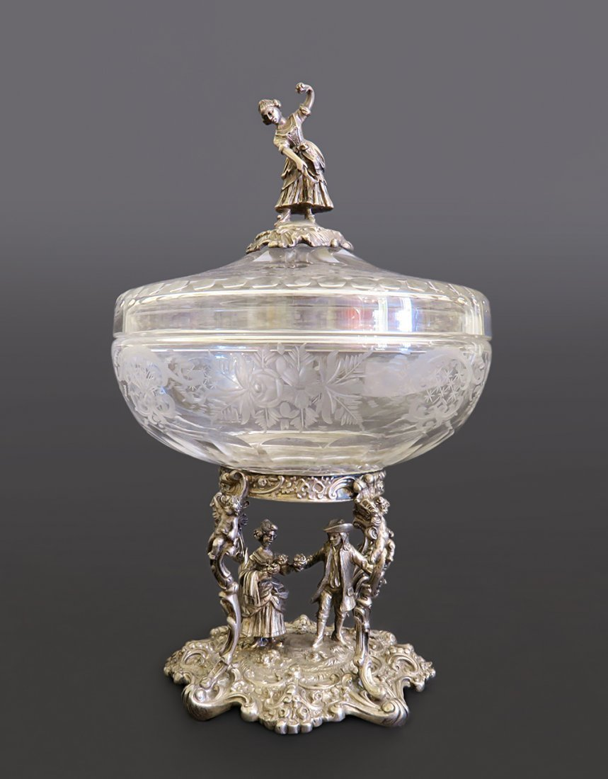 German Silver And Crystal Covered Cup