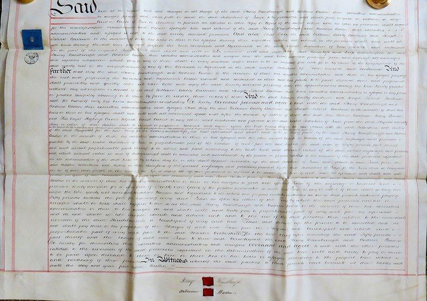 3 Pages 19th C. English Vellum manuscript