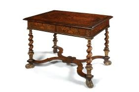 A 19th century William & Mary style marquetry table