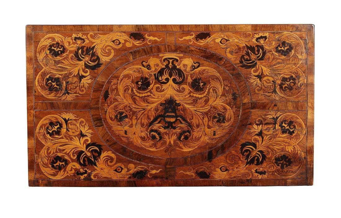 A George I walnut, sycamore and ebony marquetry chest - 2