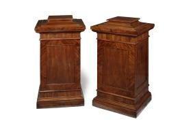 A pair large George IV mahogany dining room pedestals