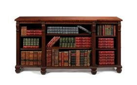 George IV carved mahogany breakfront bookcase, Gillows