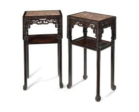A pair  late 19th/early 20th century Chinese tables