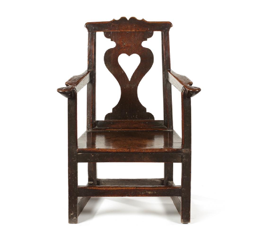 A George III oak armchair, circa 1780, Welsh