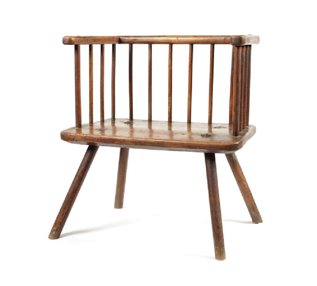 A George III ash stick-back Windsor armchair