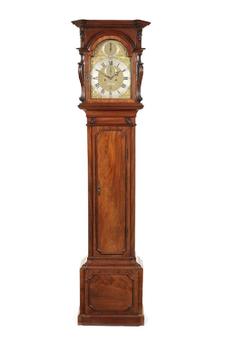 A George III mahogany longcase clock by Jn Fladgate