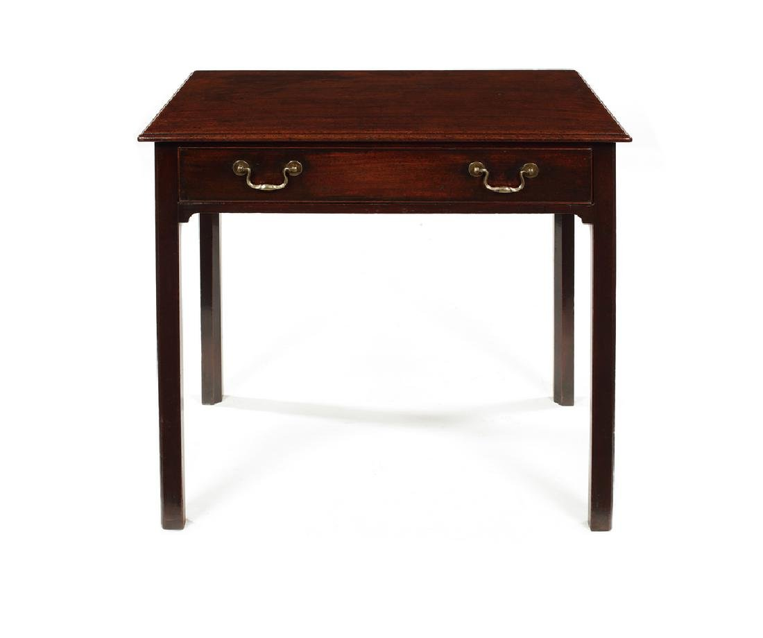 A George III mahogany single drawer side table