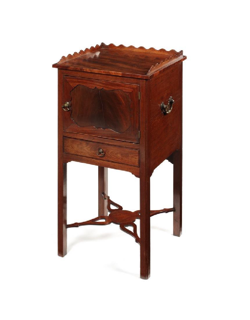 A George III mahogany pot cupboard