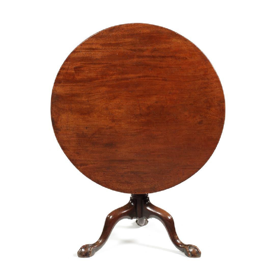 A George III mahogany tripod table