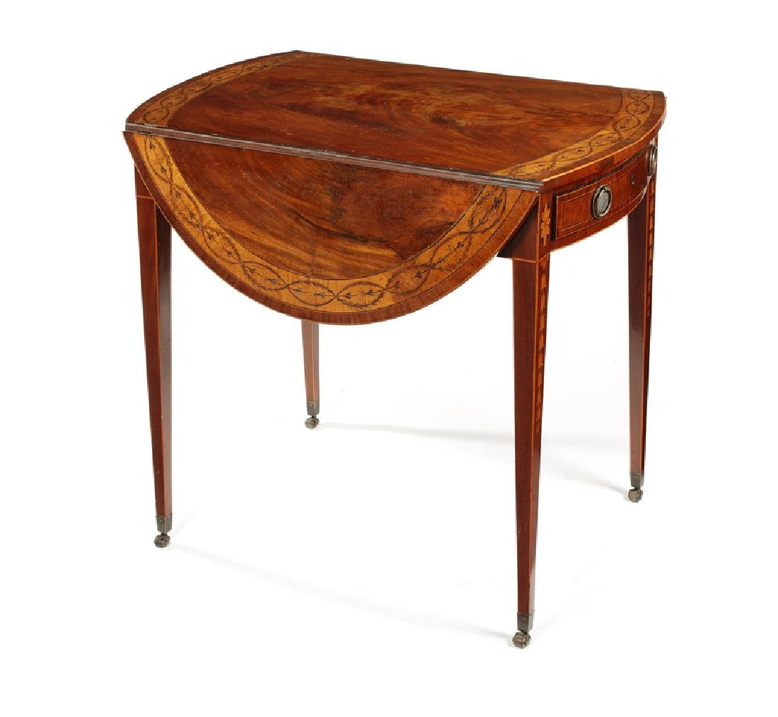 A George III flame mahogany Pembroke table