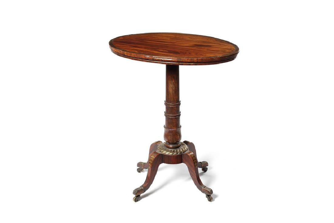 A Regency kingwood, brass marquetry occasional table