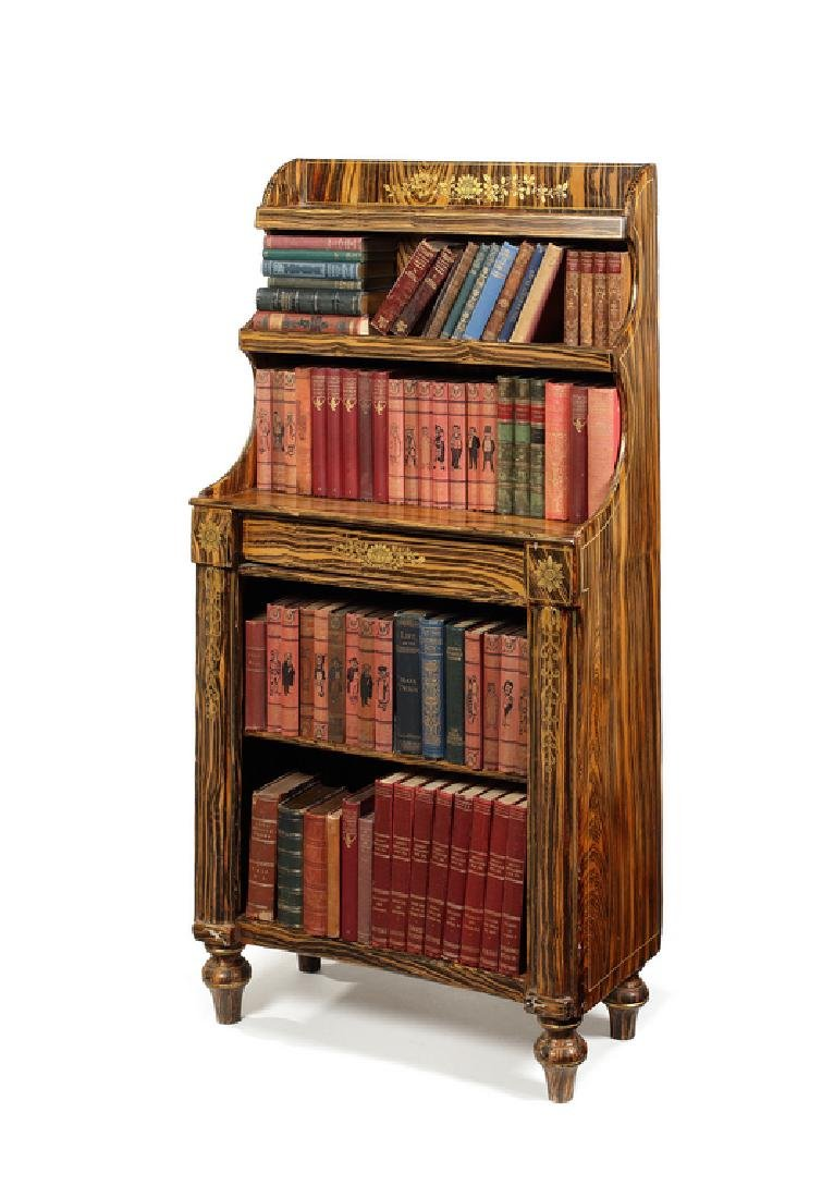 Regency simulated coromandel bookcase