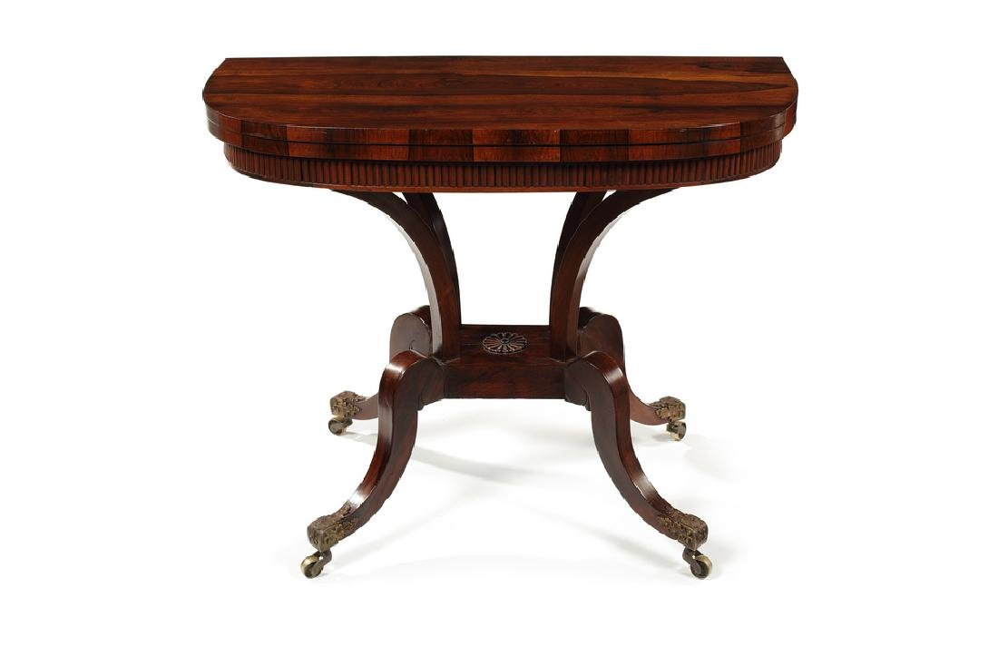 Regency Scottish rosewood card table attrib' to Trotter