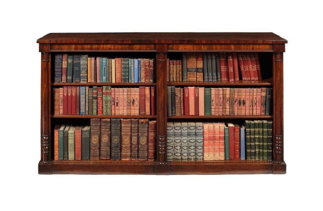A Regency mahogany open bookcase