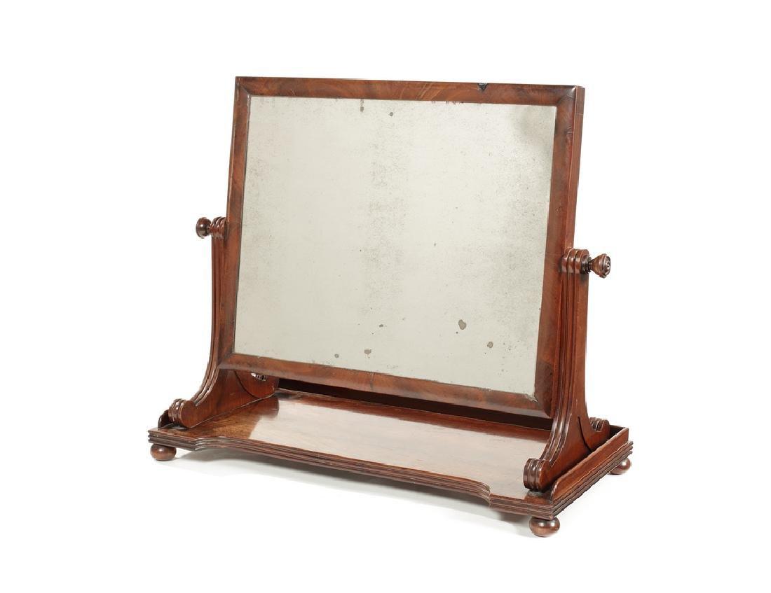 George IV Gillows mahogany swing frame dressing mirror