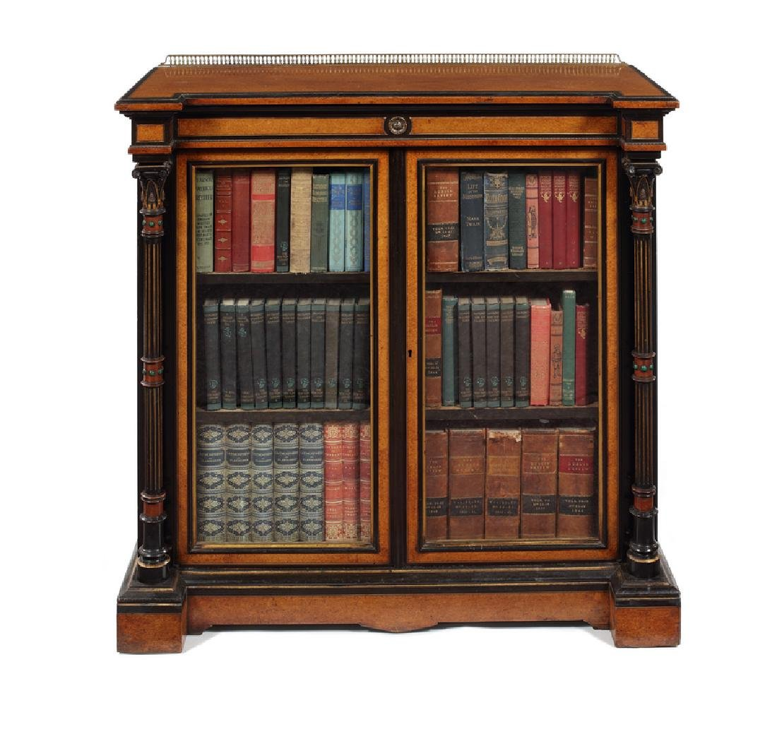 Victorian amboyna side cabinet Gillows
