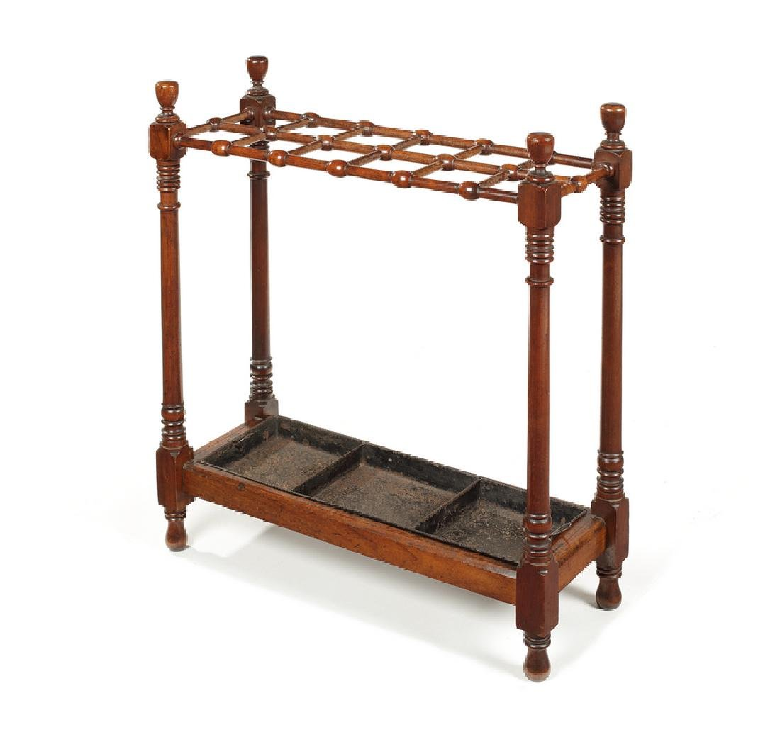 A 19th century mahogany stick stand