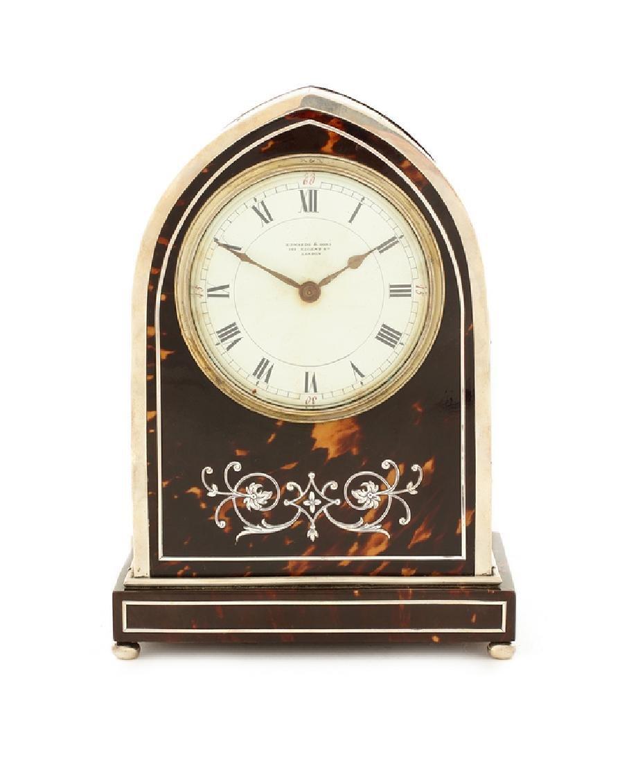 Edwardian tortoiseshell silver timepiece Edwards & Sons