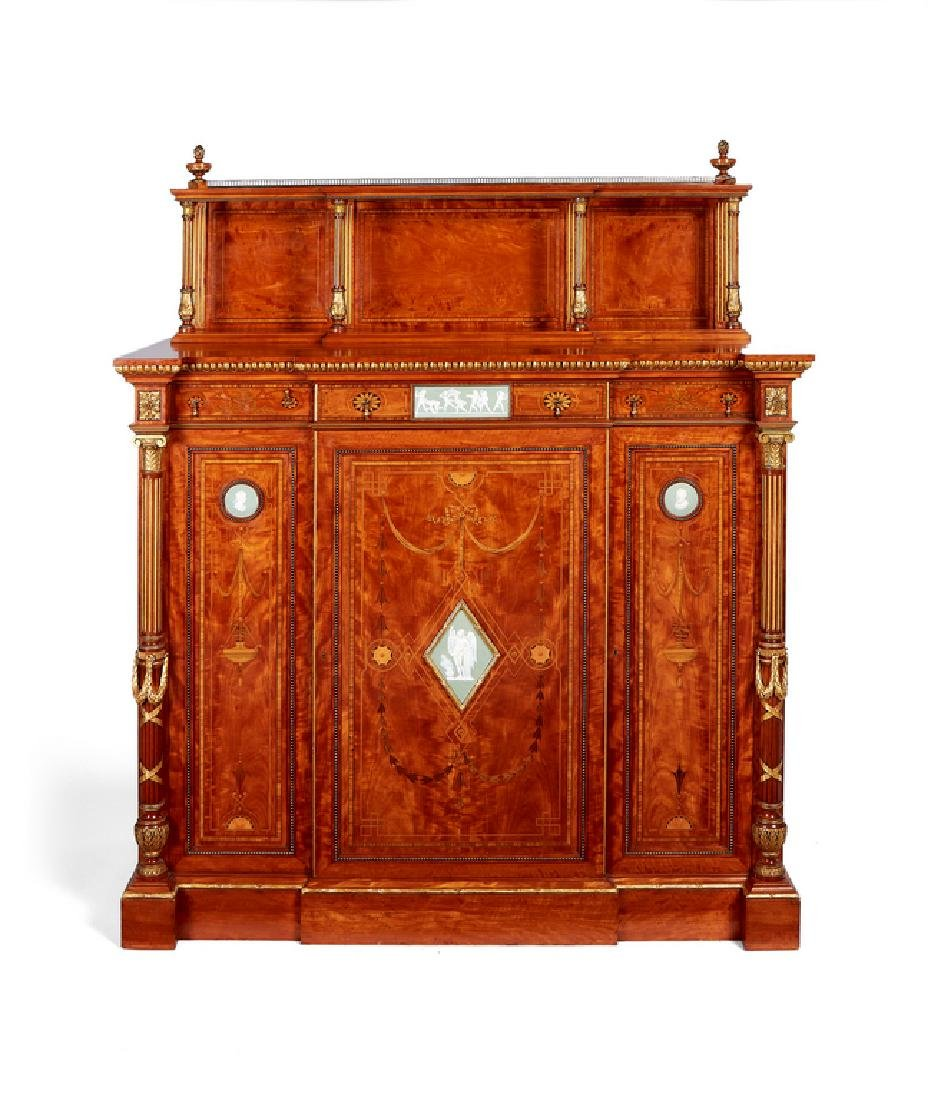 Victorian satinwood cabinet, Wright&Mansfield