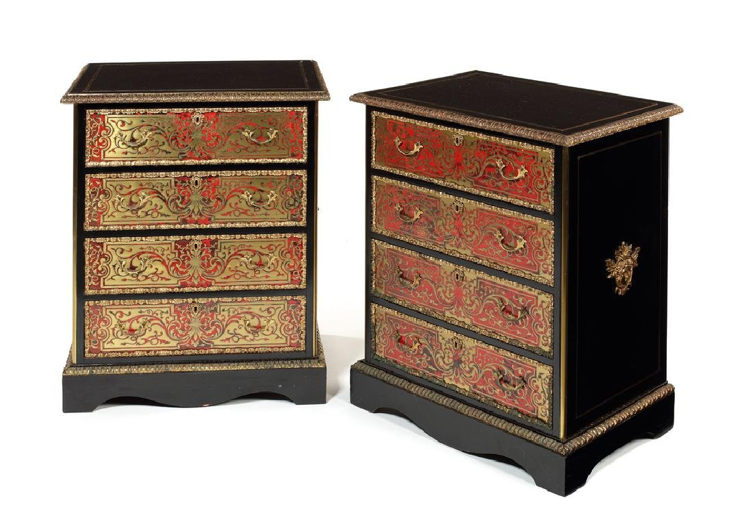 Pair Napoleon III 'Boulle' side cabinets