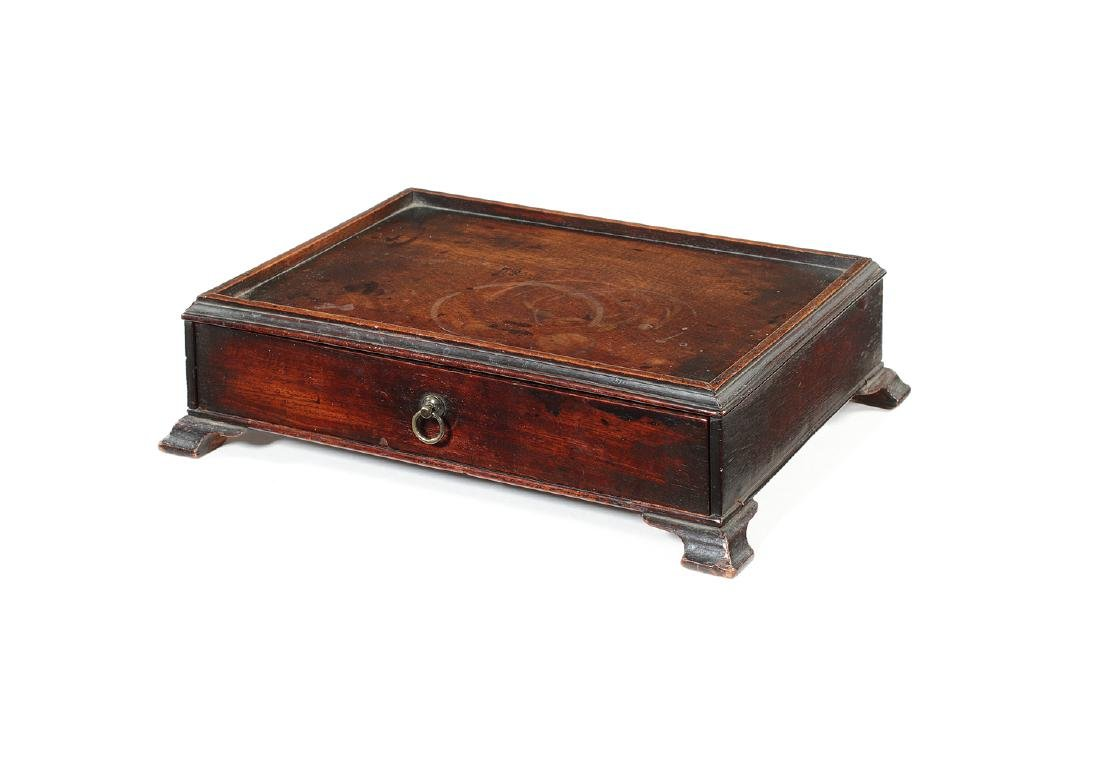 A George III mahogany desk stand