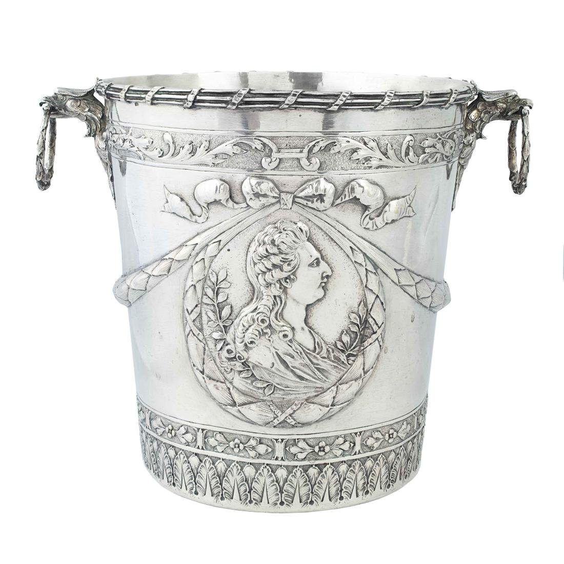 A German silver ice bucket, Hanau, circa 1900