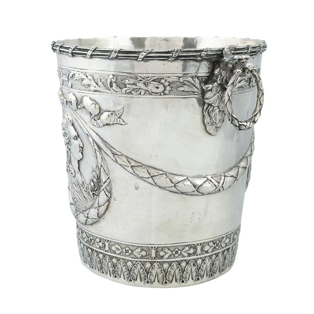 A German silver ice bucket, Hanau, circa 1900 - 2