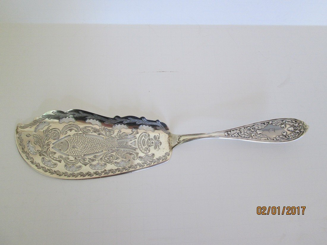 Sterling silver fish slice
