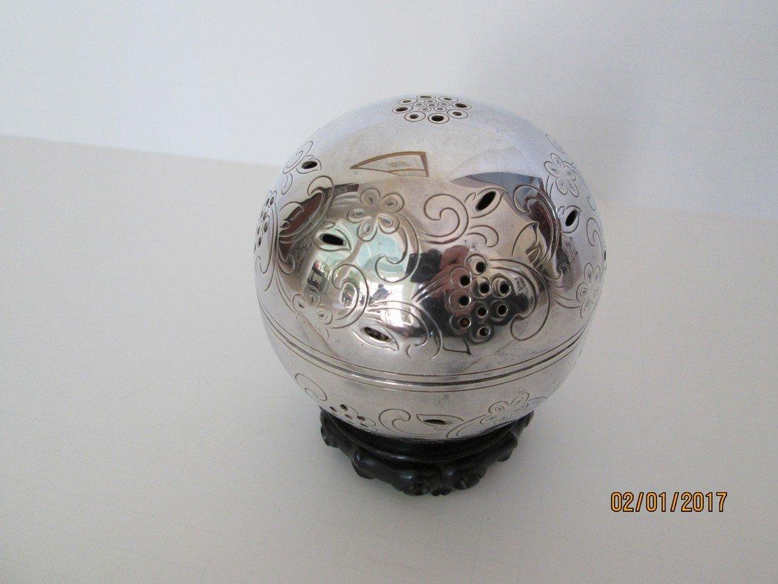 Gorham silver plate potpourri ball