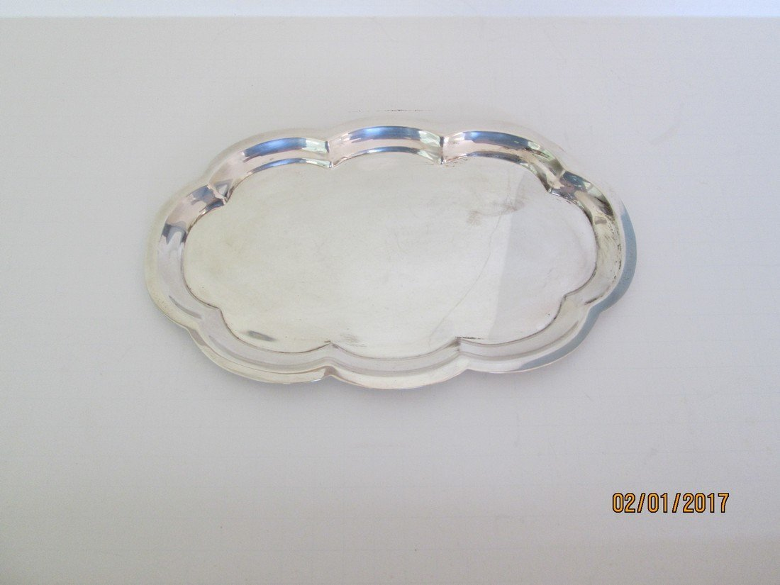 Poole sterling silver tray