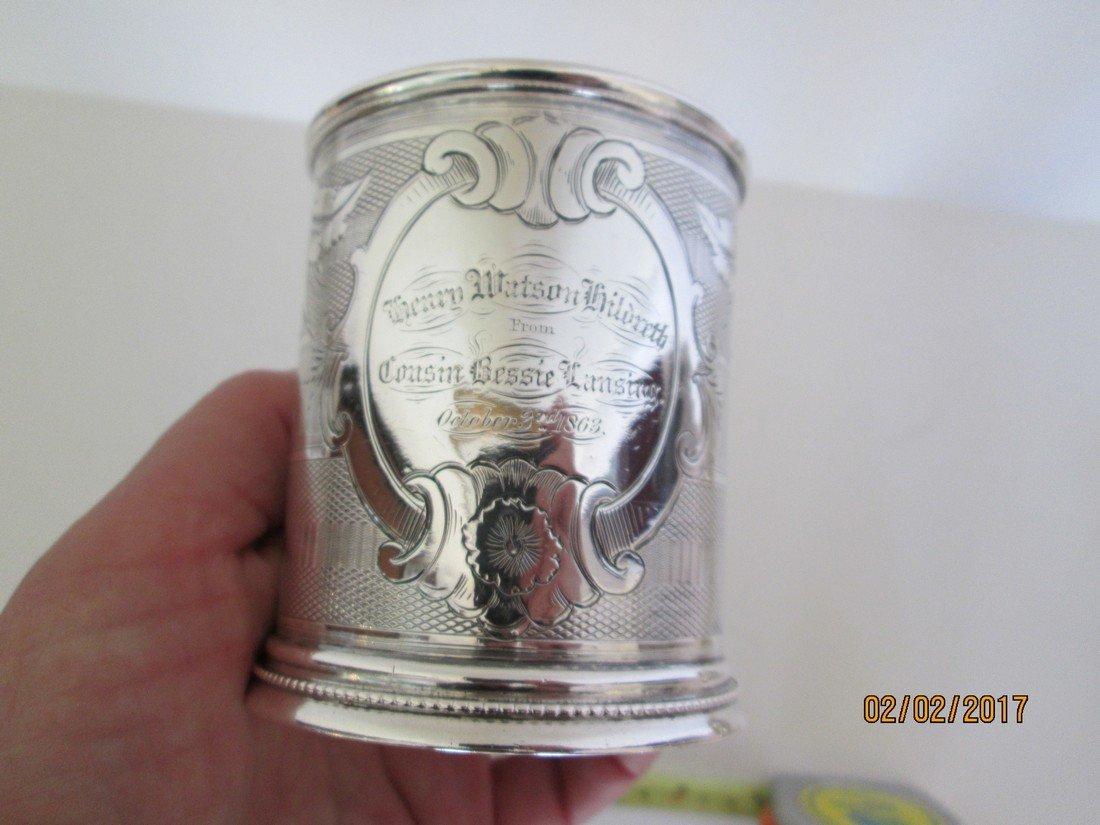 Coin silver presentation cup