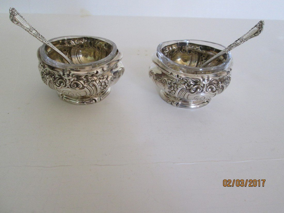 Gorham antique salt dishes