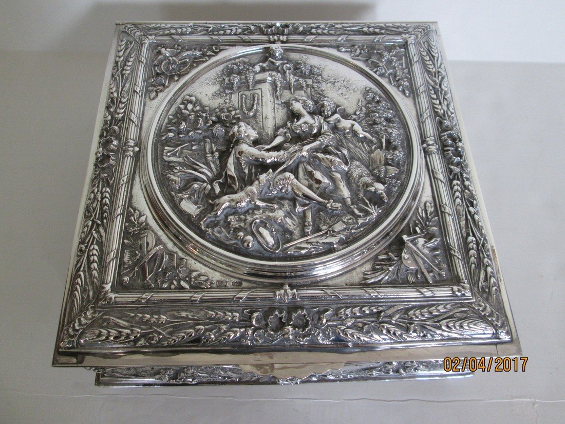 Sterling document or jewelry box