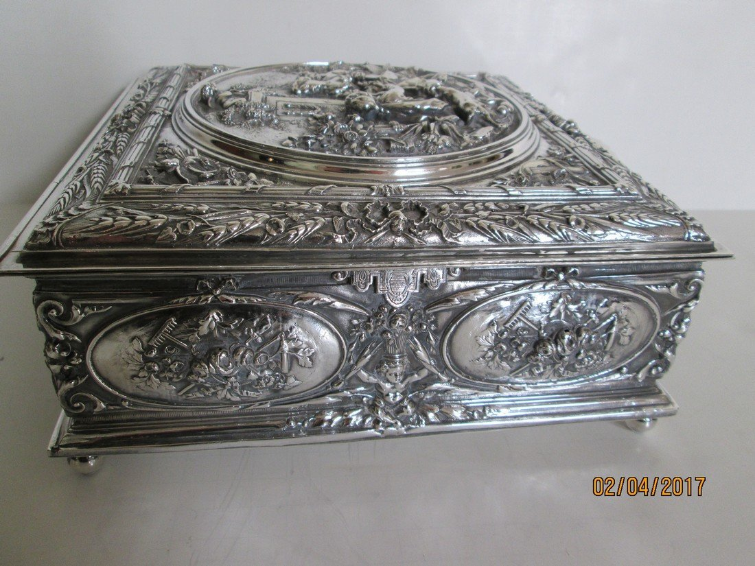 Sterling document or jewelry box - 3
