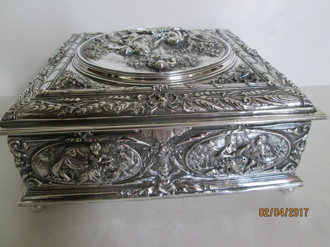 Sterling document or jewelry box - 4